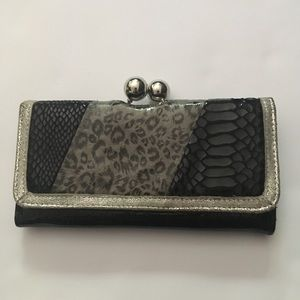 Claire's Faux Animal Print Multi Pocket Clutch